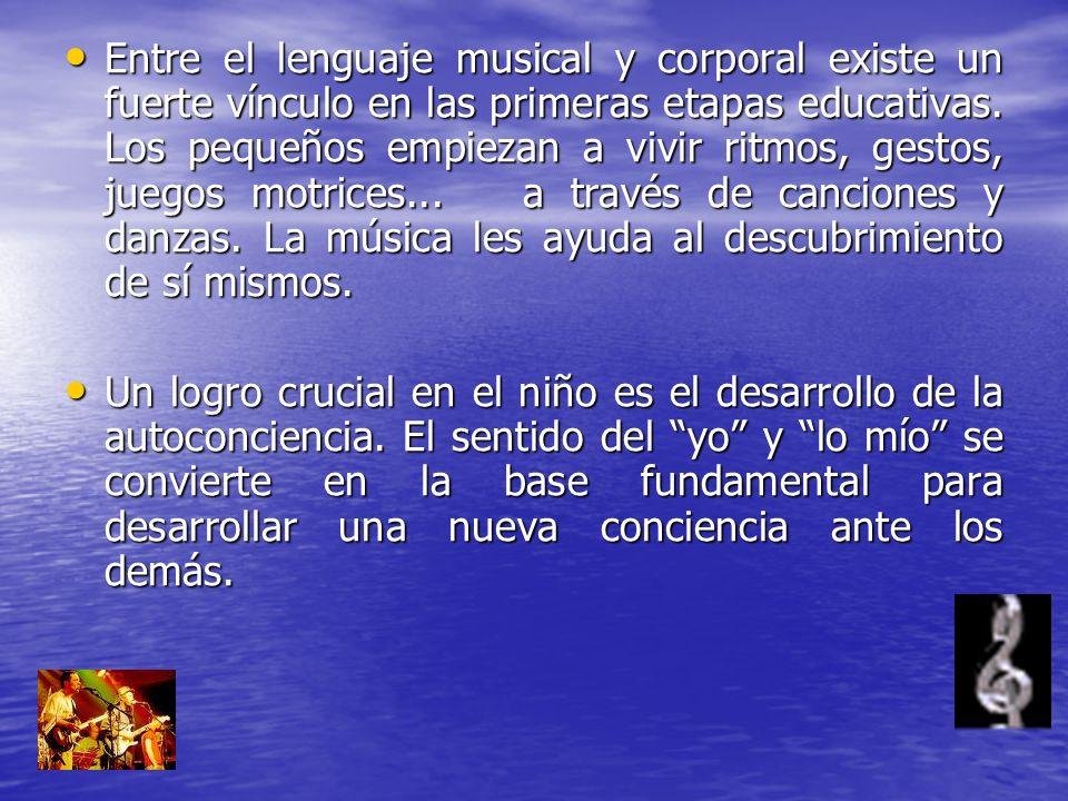 Entre el lenguaje musical y corporal existe un fuerte vínculo en las primeras etapas educativas. Los pequeños empiezan a vivir ritmos, gestos, juegos