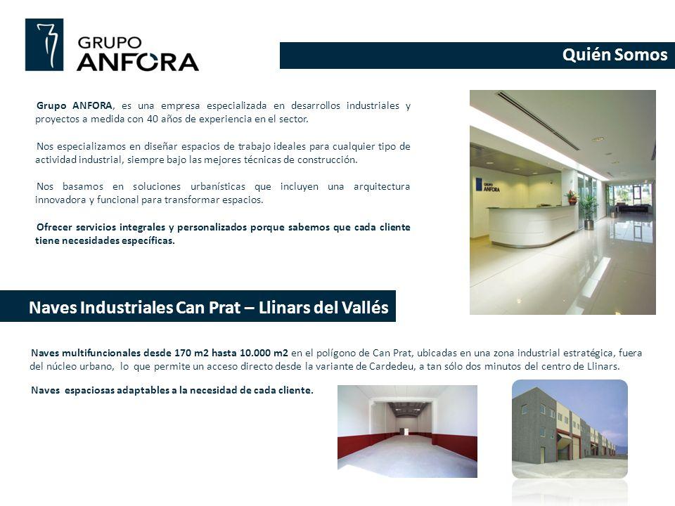 Quién Somos Grupo ANFORA, es una empresa especializada en desarrollos industriales y proyectos a medida con 40 años de experiencia en el sector. Nos e