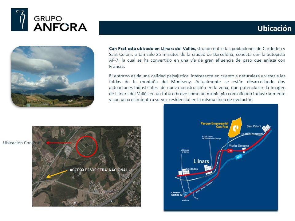 Ubicación Can Prat está ubicado en Llinars del Vallés, situado entre las poblaciones de Cardedeu y Sant Celoni, a tan sólo 25 minutos de la ciudad de