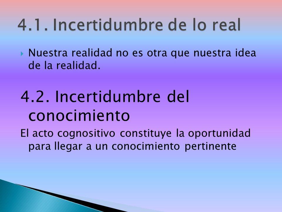 Nuestra realidad no es otra que nuestra idea de la realidad.