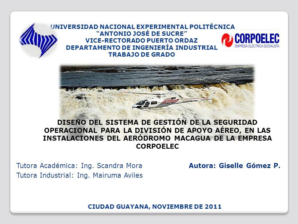 UNIVERSIDAD NACIONAL EXPERIMENTAL POLITÉCNICA ANTONIO JOSÉ DE SUCRE VICE-RECTORADO PUERTO ORDAZ DEPARTAMENTO DE INGENIERÍA INDUSTRIAL TRABAJO DE GRADO