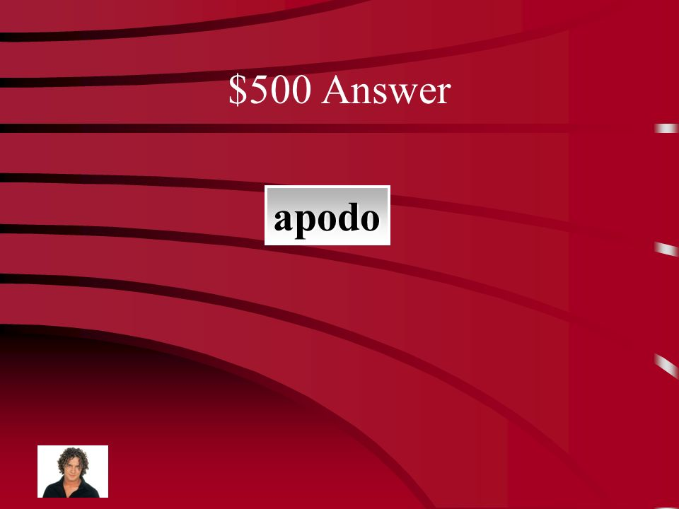 $500 Question un nombre corto