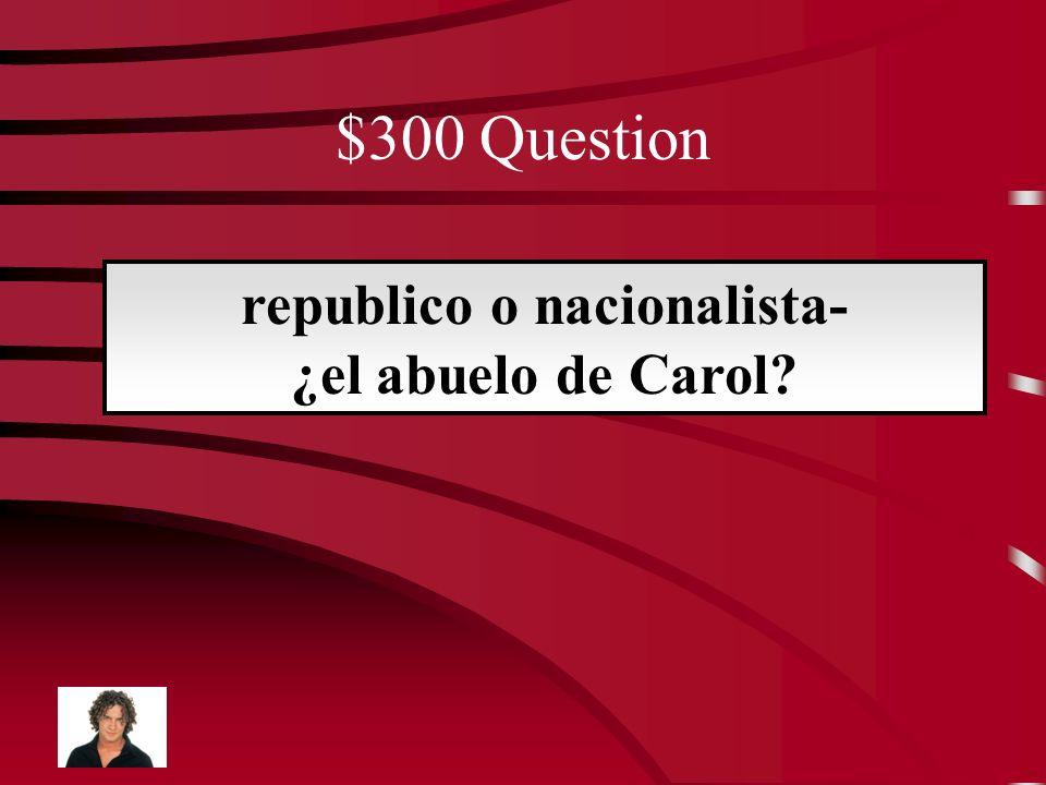 $200 Answer nacionalista