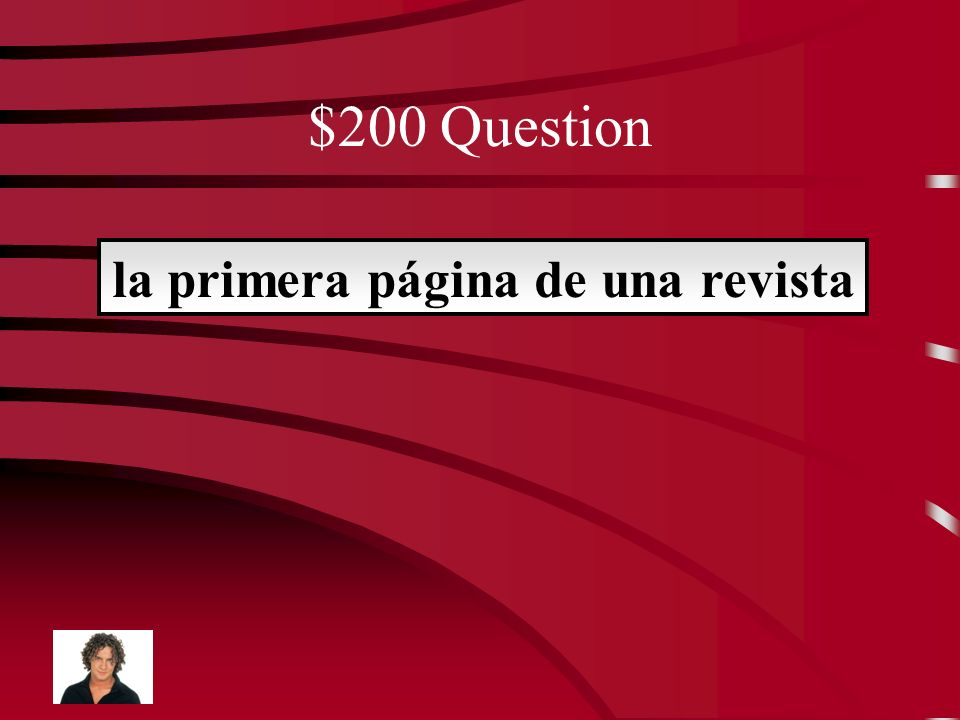$200 Question la primera página de una revista