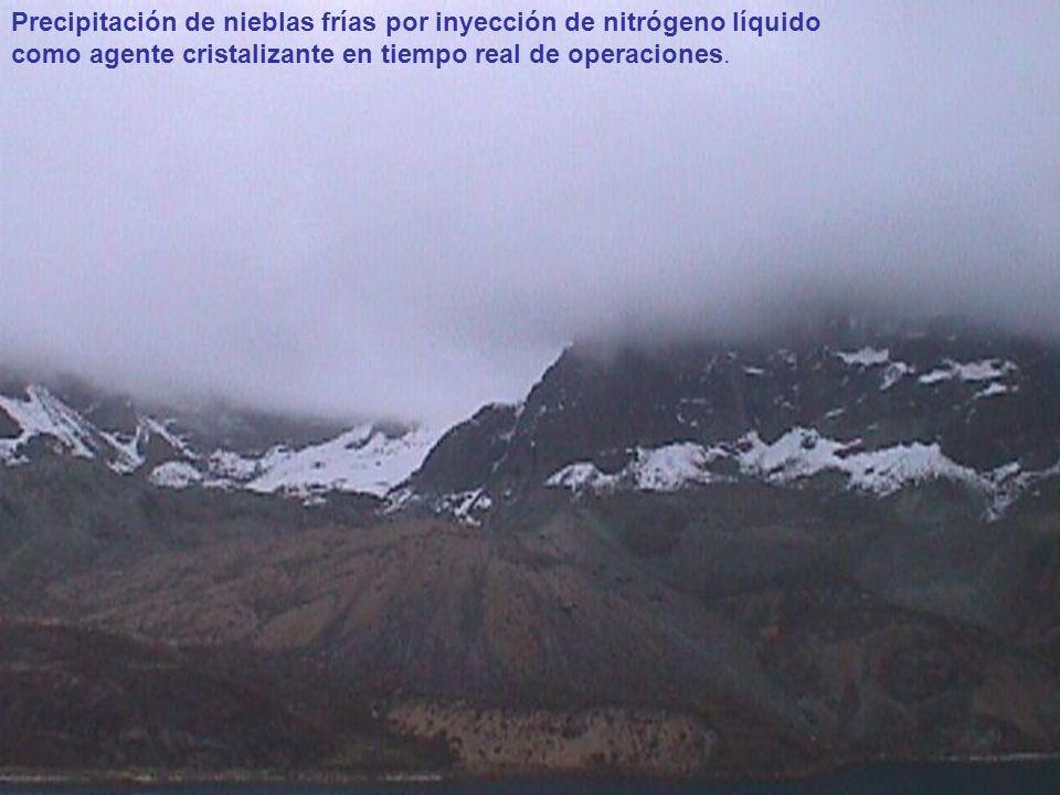Precipitación de nieblas frías por inyección de nitrógeno líquido como agente cristalizante en tiempo real de operaciones.