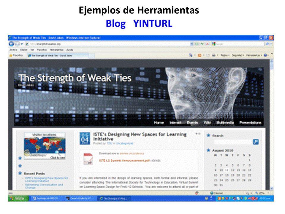 Ejemplos de Herramientas Blog YINTURL