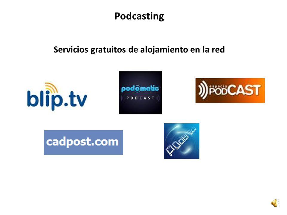 Servicios gratuitos de alojamiento en la red Podcasting
