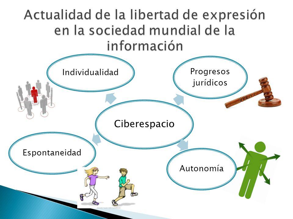 Ciberespacio Progresos jurídicos Autonomía Espontaneidad Individualidad