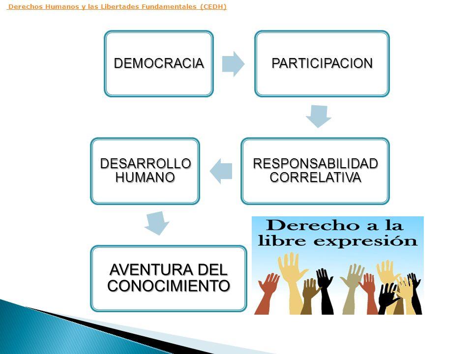 DEMOCRACIAPARTICIPACION RESPONSABILIDAD CORRELATIVA DESARROLLO HUMANO AVENTURA DEL CONOCIMIENTO Derechos Humanos y las Libertades Fundamentales (CEDH)