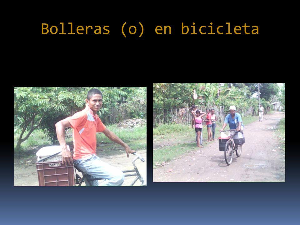 Bolleras (o) en bicicleta
