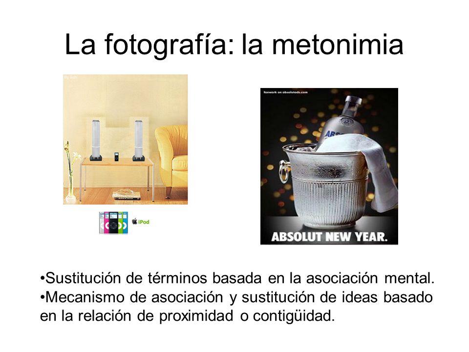 La fotografía: la metonimia Sustitución de términos basada en la asociación mental. Mecanismo de asociación y sustitución de ideas basado en la relaci
