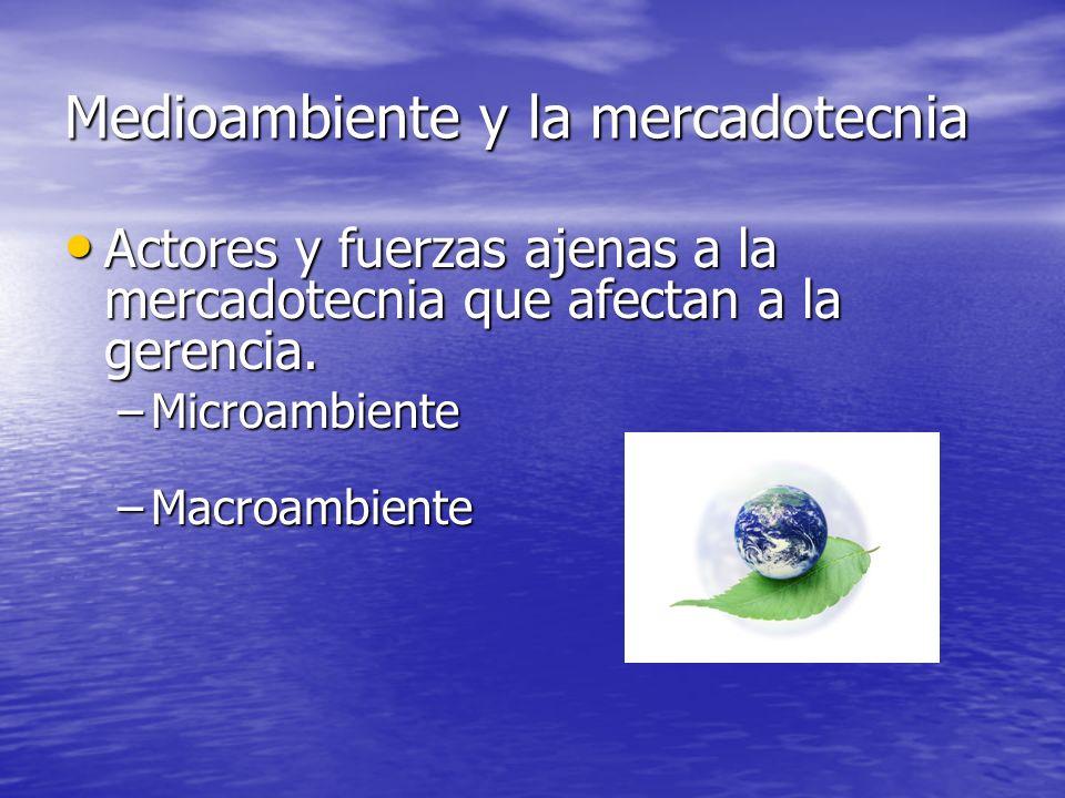 Microambiente La compañía Los proveedores Los intermediarios Los clientes Los competidores Los públicos ¿son todos iguales.