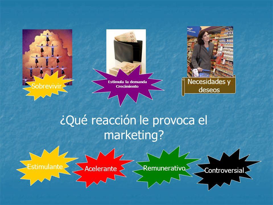 Conceptos El marketing puede definirse como la actitud y la aptitud de la empresa para detectar, anticipar y satisfacer las necesidades de segmento de consumidores elegidos como target.