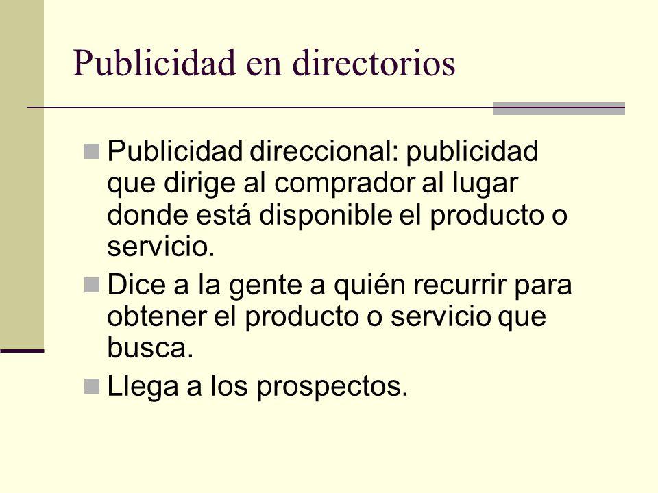 Publicidad de la sección amarilla Lista todos los negocios nacionales y regionales que tienen un número telefónico.