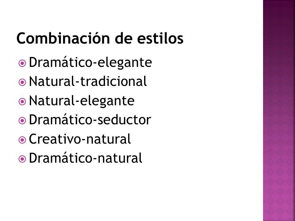 Dramático-elegante Natural-tradicional Natural-elegante Dramático-seductor Creativo-natural Dramático-natural
