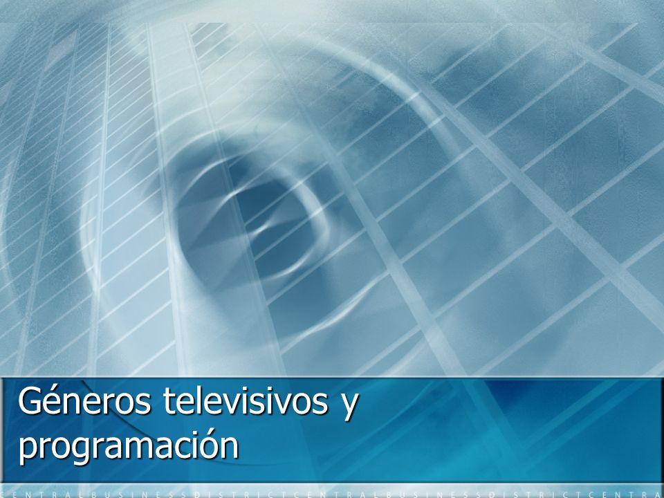 Géneros televisivos y programación