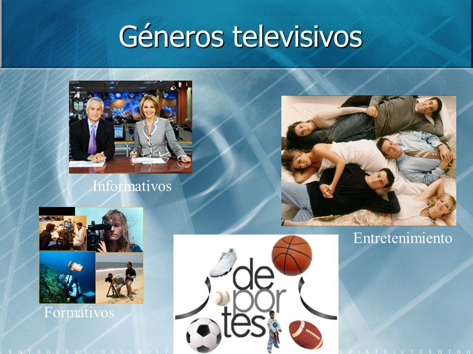 Géneros televisivos Informativos Entretenimiento Formativos
