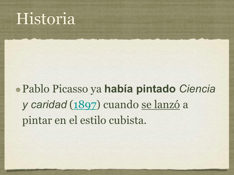 Historia Pablo Picasso ya había pintado Ciencia y caridad (1897) cuando se lanzó a pintar en el estilo cubista.1897 Pablo Picasso ya había pintado Ciencia y caridad (1897) cuando se lanzó a pintar en el estilo cubista.1897