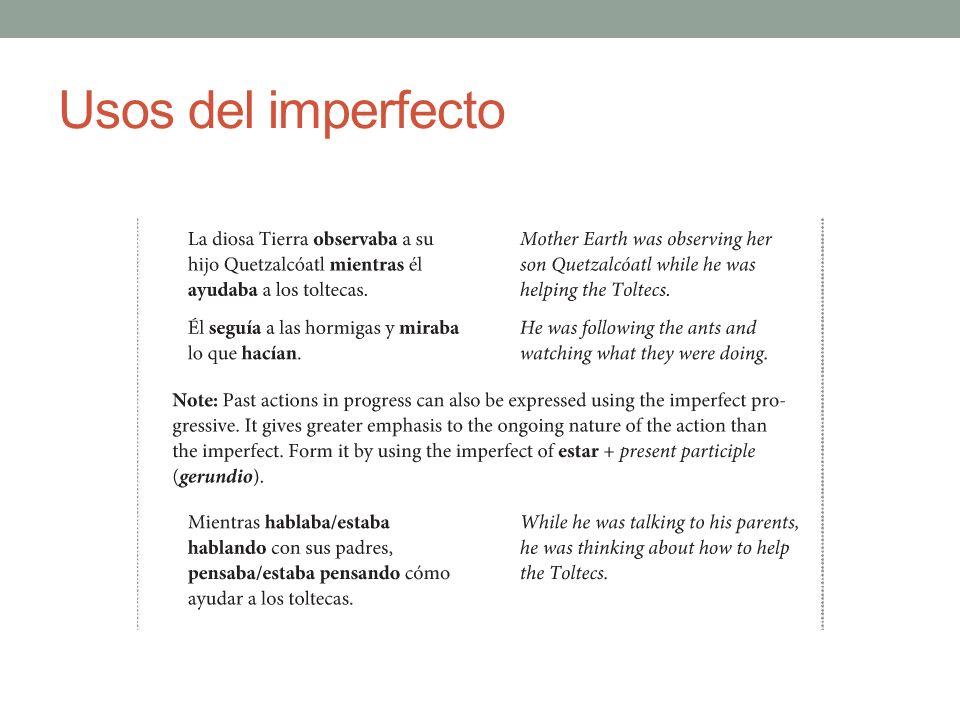 Usos del imperfecto