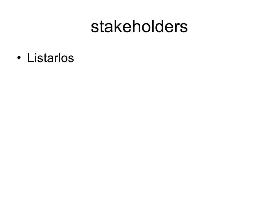 stakeholders Listarlos