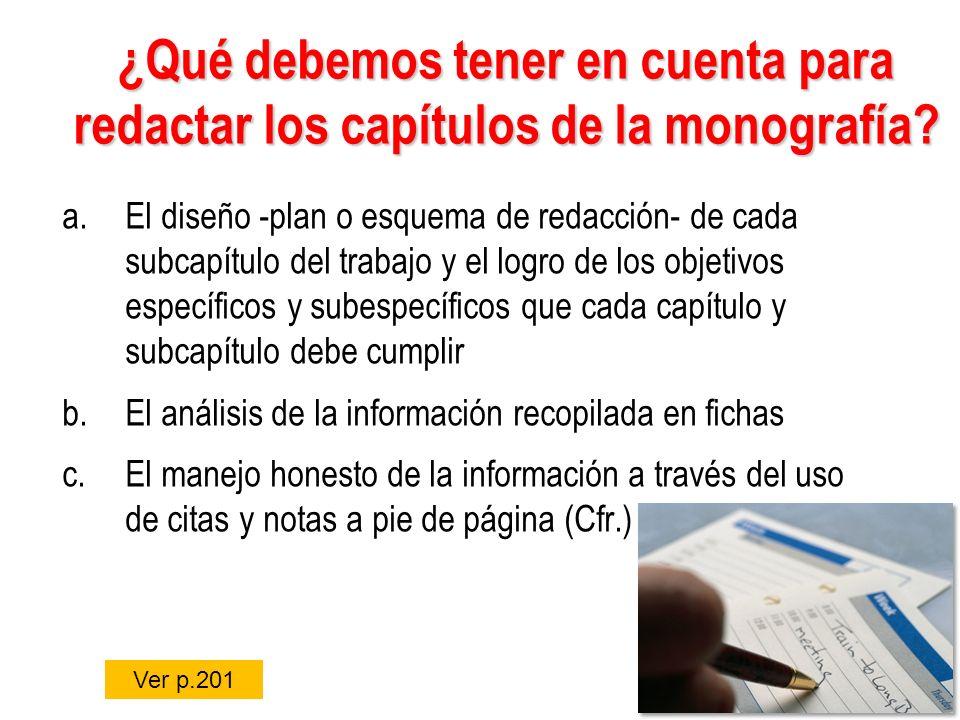 a. Esquemas de redacción Material, pp. 201 - 203