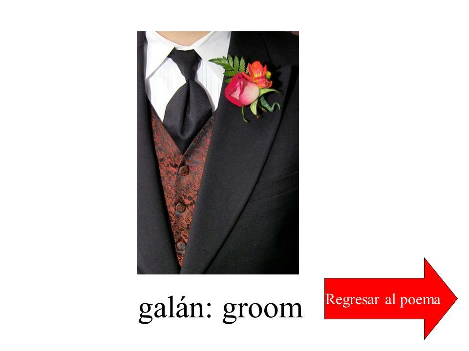 galán: groom Regresar al poema
