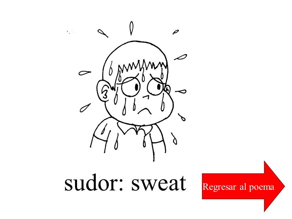 sudor: sweat Regresar al poema