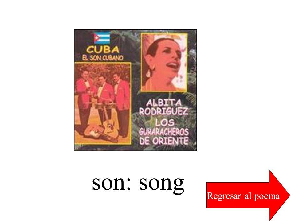 son: song Regresar al poema
