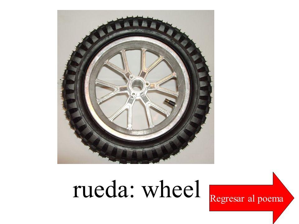 rueda: wheel Regresar al poema