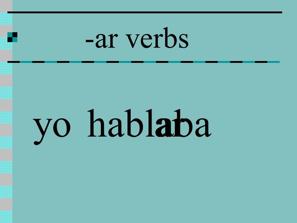 -ar verbs hablarabayo