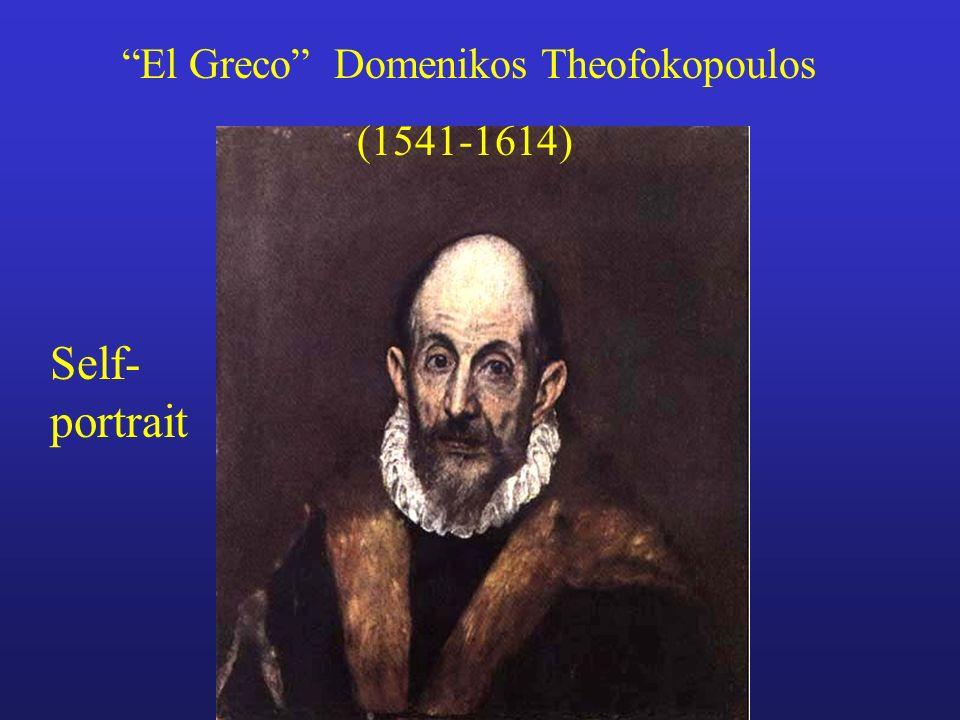 El Greco Domenikos Theofokopoulos (1541-1614) Self- portrait