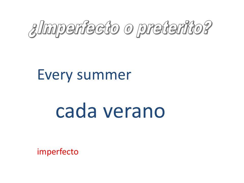 Time and weather It was 4:00. It was warm. Eran las 4:00. Hacía calor. imperfecto
