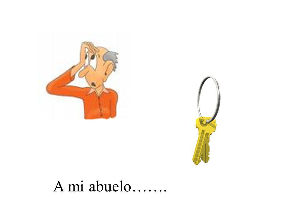A mi abuelo se le perdieron/olvidaron las llaves