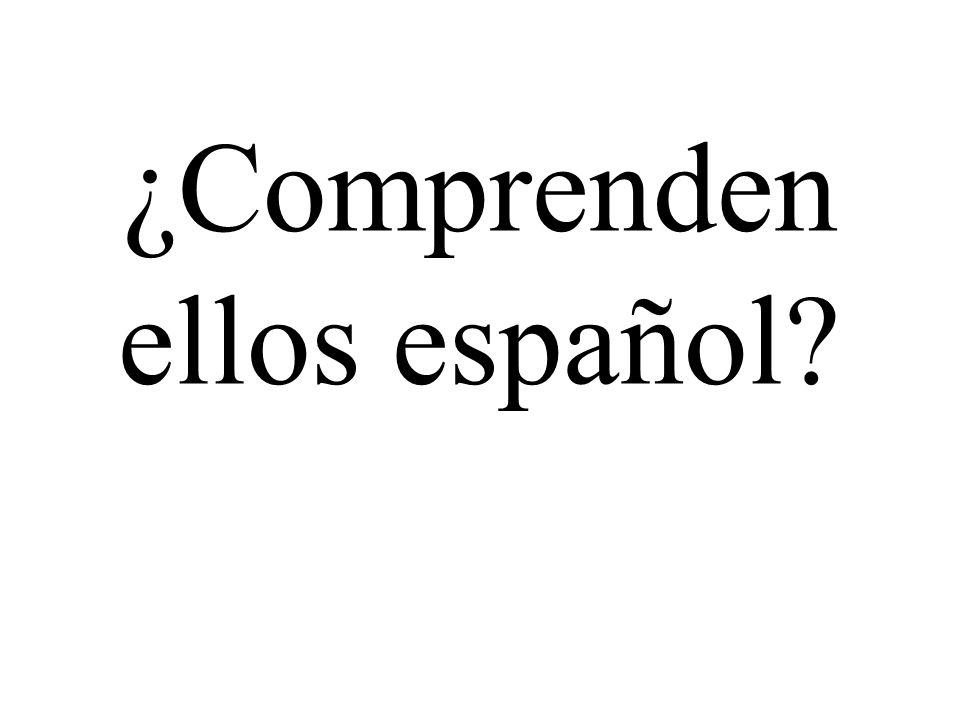 ¿Comprenden ellos español?