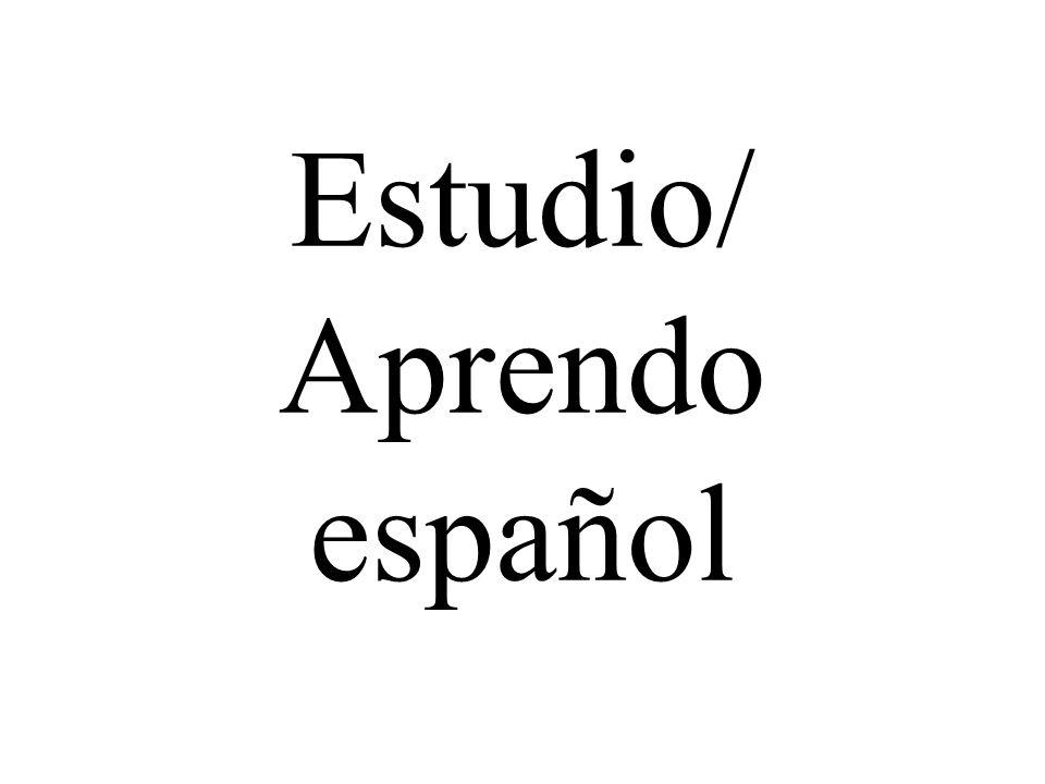 Estudio/ Aprendo español