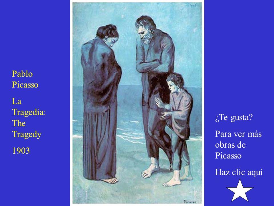 The Old Guitarrist: Pablo Picasso: 1903 ¿Te gusta? Para ver más obras de Picasso Haz clic aqui