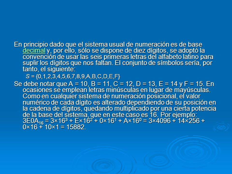En principio dado que el sistema usual de numeración es de base decimal y, por ello, sólo se dispone de diez dígitos, se adoptó la convención de usar