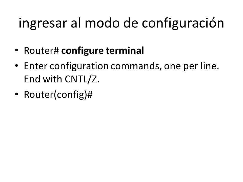 darle una descripción a esta interfase R1(config-if)#description Link to R2 R1(config-if)#
