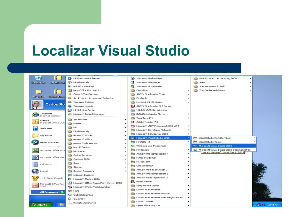 Localizar Visual Studio