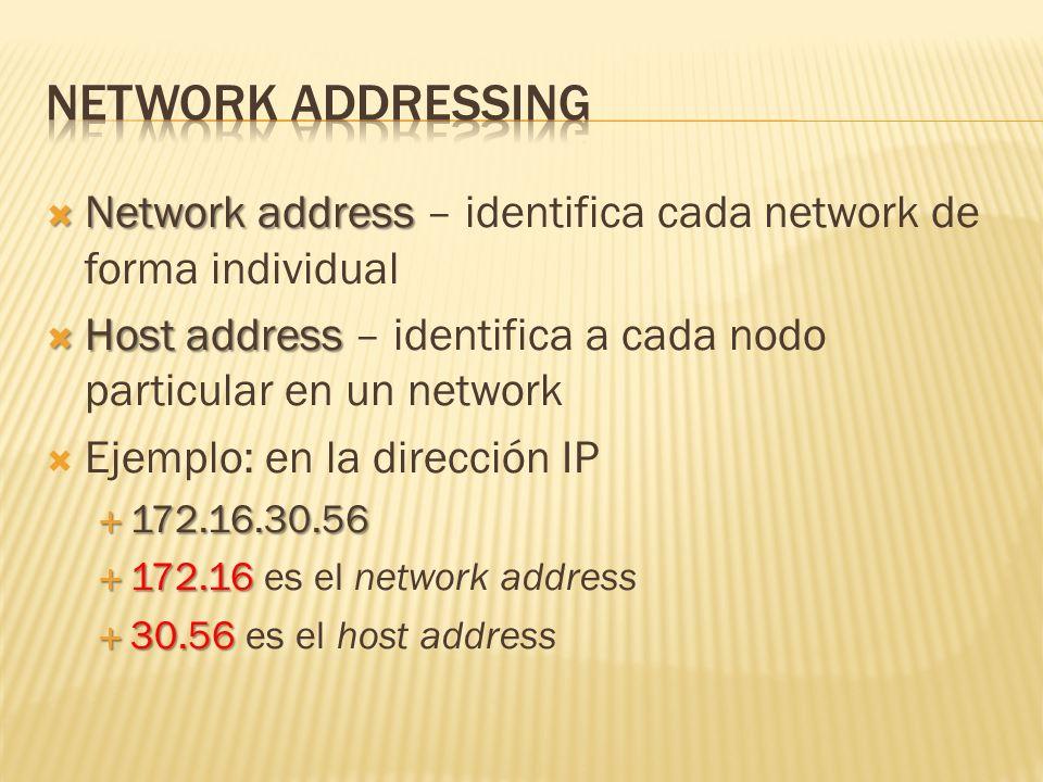 Las entidades que diseñaron el Internet decidieron clasificar a los networks basándose en el tamaño.