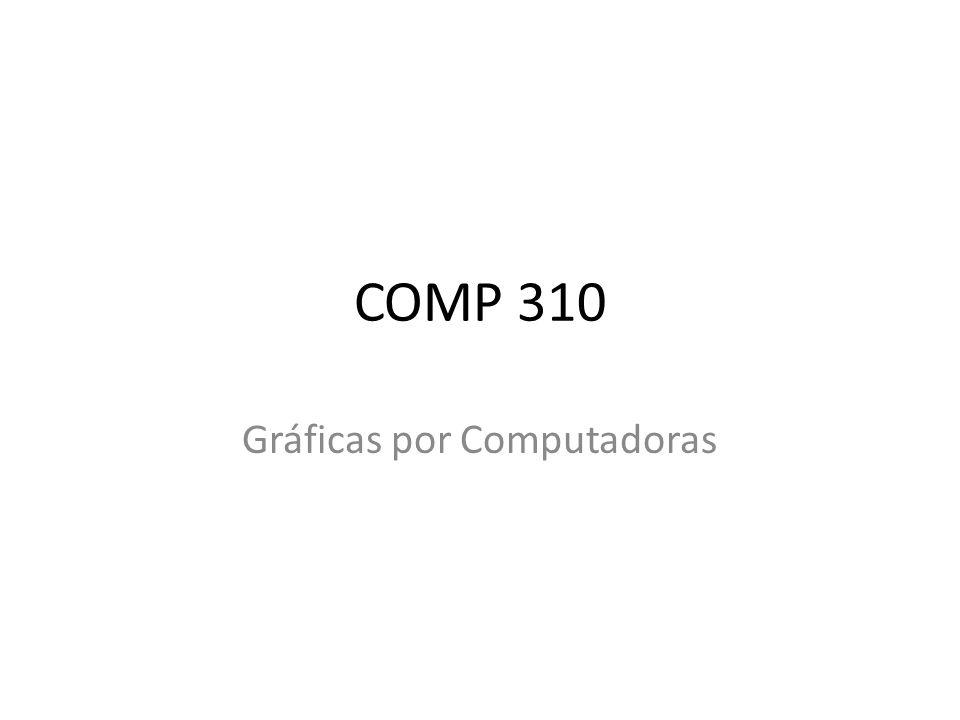 COMP 310 Gráficas por Computadoras