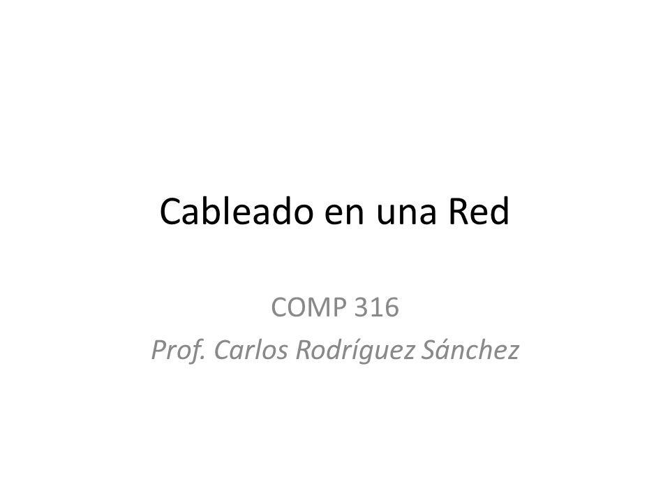 Cableado en una Red COMP 316 Prof. Carlos Rodríguez Sánchez