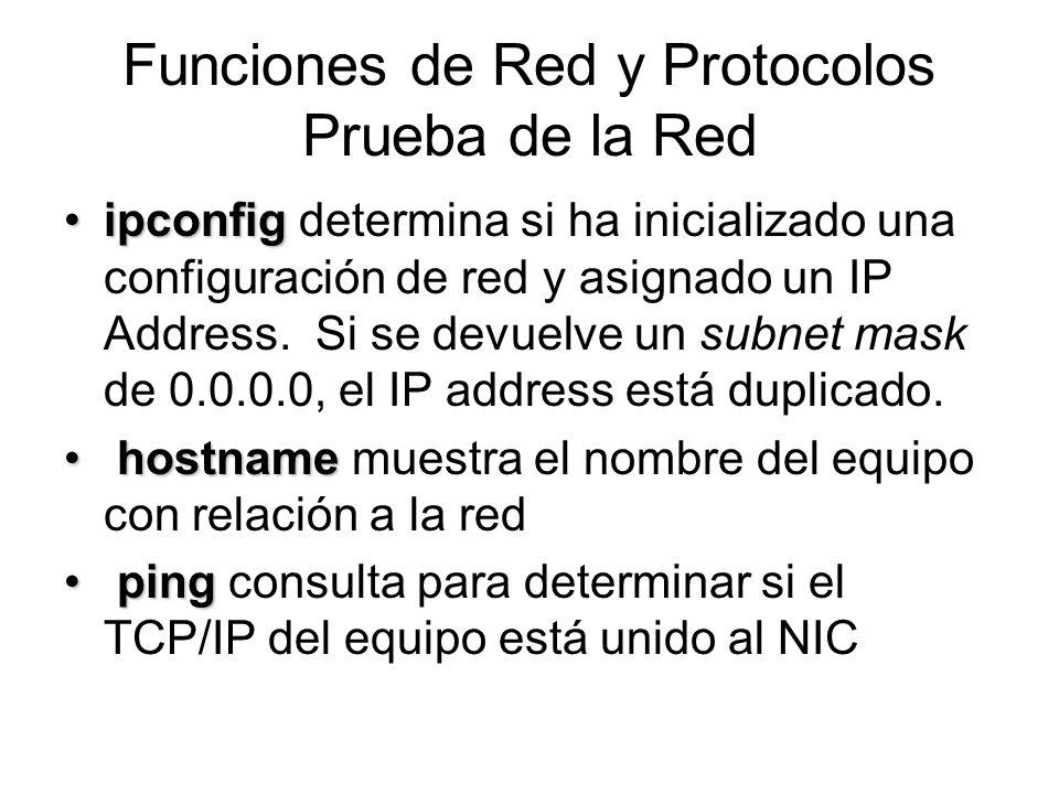 ipconfigipconfig determina si ha inicializado una configuración de red y asignado un IP Address. Si se devuelve un subnet mask de 0.0.0.0, el IP addre