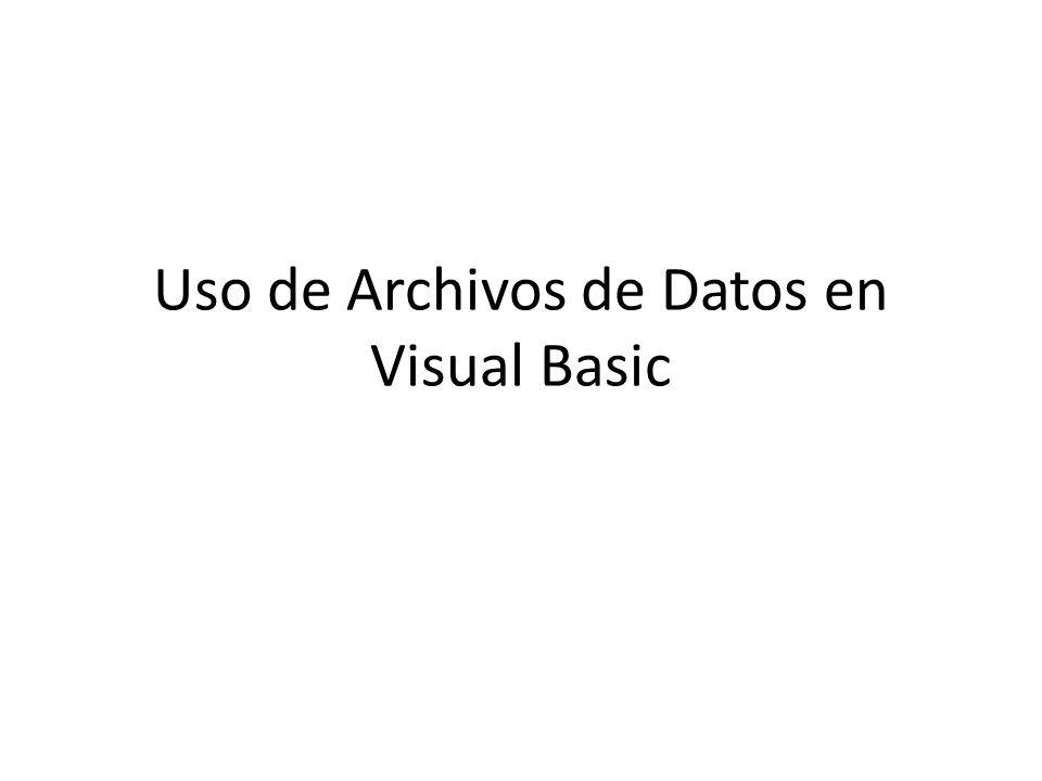 Introducción Bit – unidad más pequeña de información (1, 0) Byte – combinación de varios bits (7 u 8) Caracter – letra, número, caracter especial (.,#@) Field – campo, dato formado por dos o más caracteres Record – combinación de varios campos relacionados File – combinación de varios records relacionados Data Base – combinación de varios files relacionados