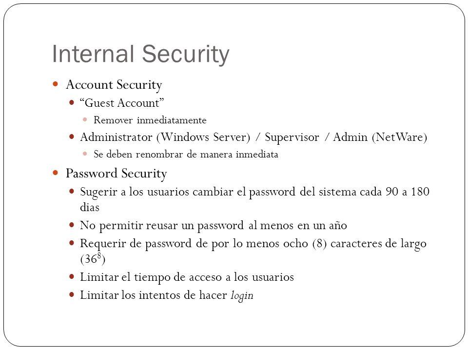 Internal Security ¿Existen alternativas al uso de passwords .