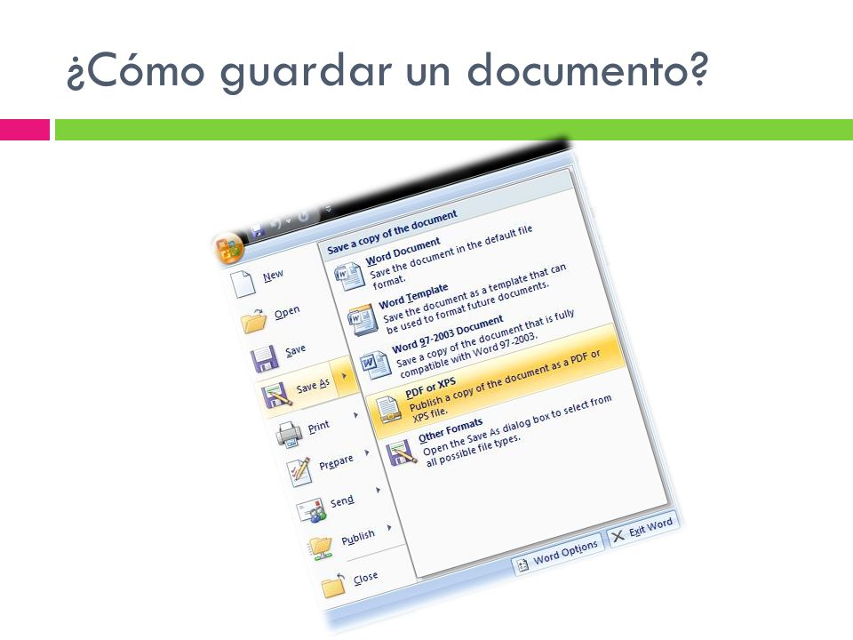 ¿Cómo guardar un documento?