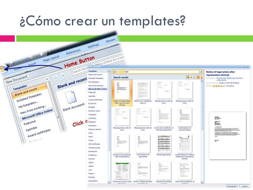 ¿Cómo crear un templates?