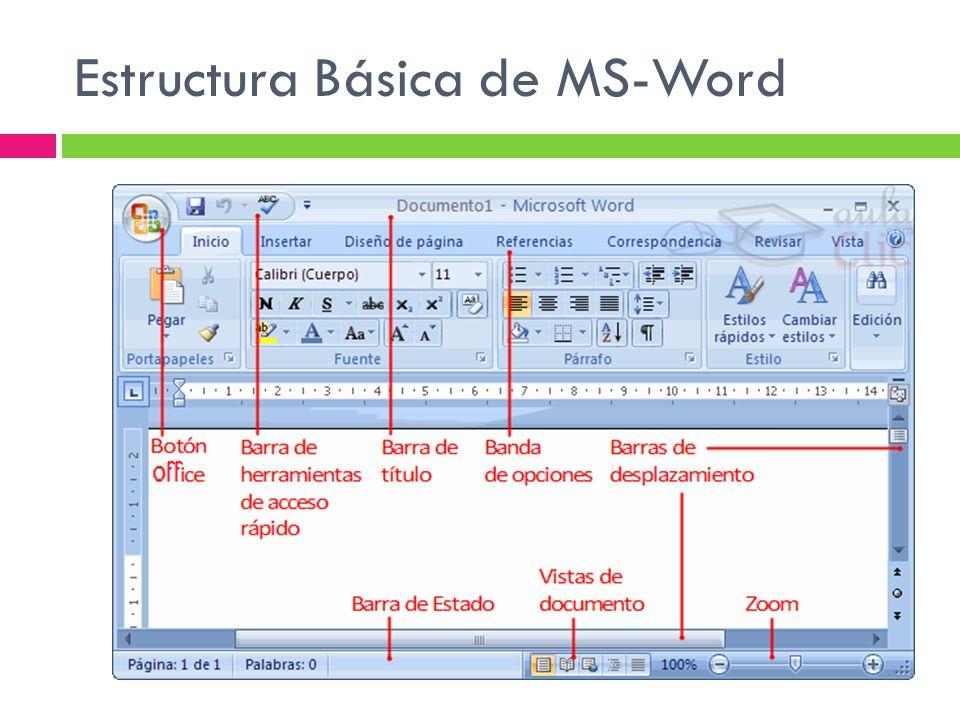 Estructura Básica de MS-Word