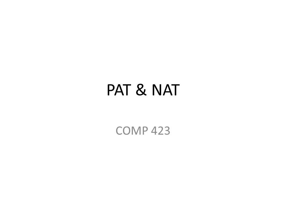 PAT & NAT COMP 423