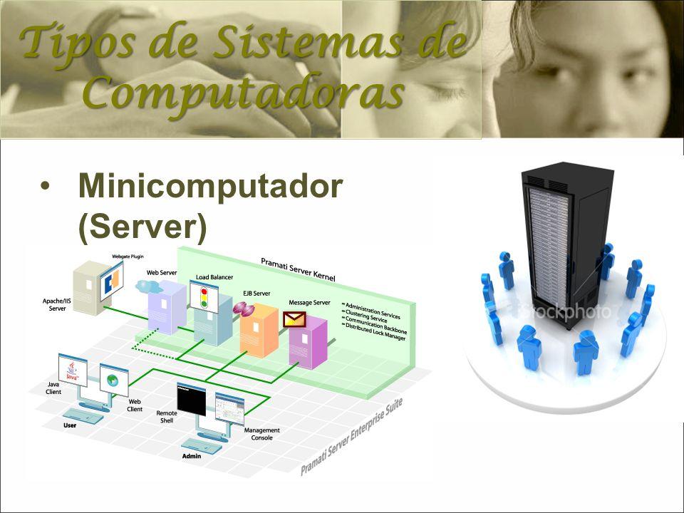 Minicomputador (Server) Tipos de Sistemas de Computadoras